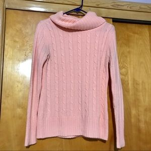 New York & Company Cowl Neck Peach Sweater